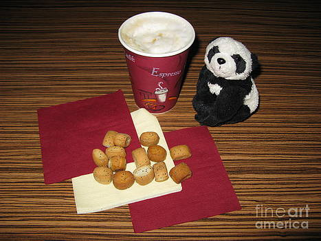 Waiting for Christmas to Come. Got milky coffee and cookies. by Ausra Huntington nee Paulauskaite