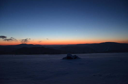 Waiting for the Sunrise over the Mountains by Brett Geyer