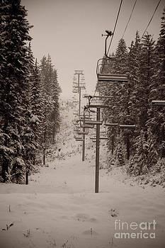 Waiting Ski Lifts by Cari Gesch