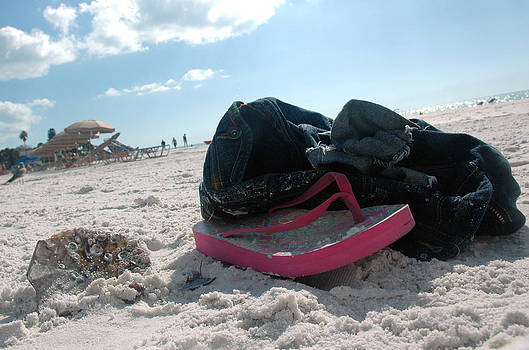 Waking to a Lost Flip Flop by Kathleen Mroz
