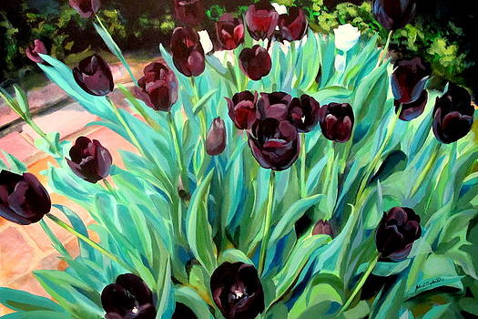 Walk Among the Tulips by John  Duplantis