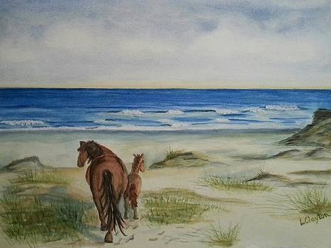 Walk on the Beach by Lynette Clayton