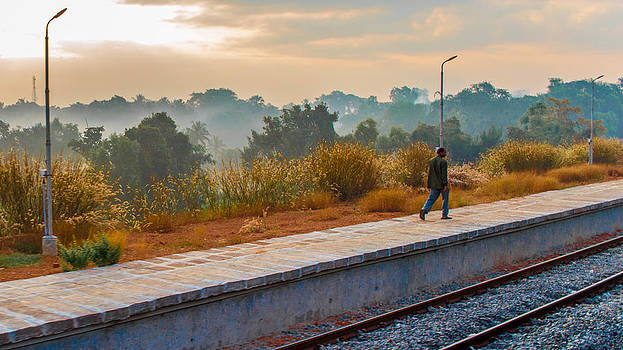 Walk the rail by Girish Veetil