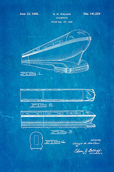 Ian Monk - Walker Train Locomotive Patent Art 1945 Blueprint