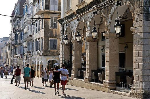 George Atsametakis - Walking at the old city of Corfu