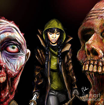 Walking dead fan art by Chelsea Perez