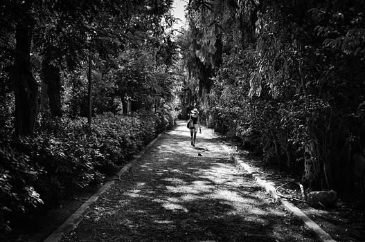 Walking in Rethymno park by Spyros Papaspyropoulos