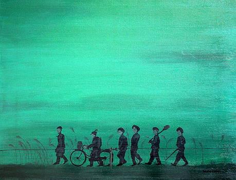 Walking in the Mist by Robert Crooker