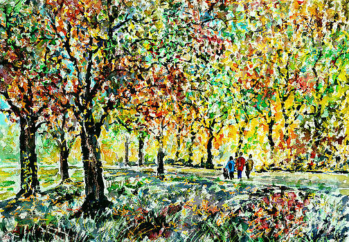 Walking in the Park by Alfred Motzer