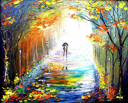 Walking Into The Light  by Artist Singh