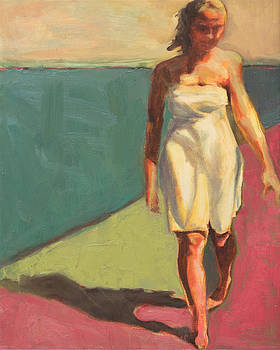 Walking the Beach by Leslie Rock