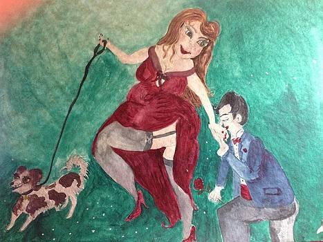 Walking the dog  by  Lady  Ann