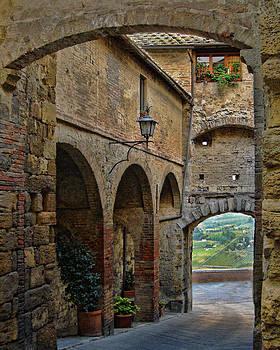 Walking Thru Montepulciano by Deborah Jahier