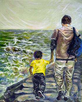Walking with Son by Heewon Kim