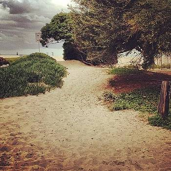 Beach path with storm coming in. by Melissa DuBow