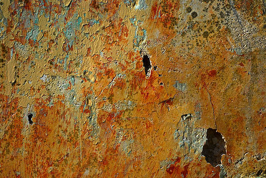Wall Abstract Layers and Holes by Howard Dratch