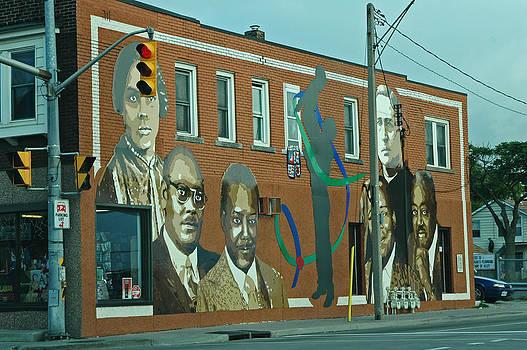 Devinder Sangha - Wall Mural of Black Leaders