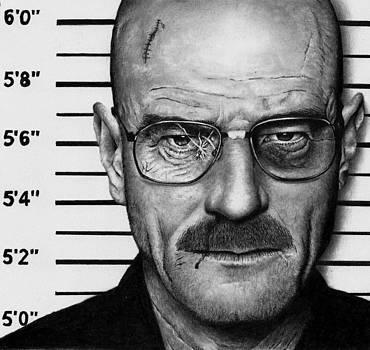 Walter White Mug Shot - Breaking Bad by Rick Fortson
