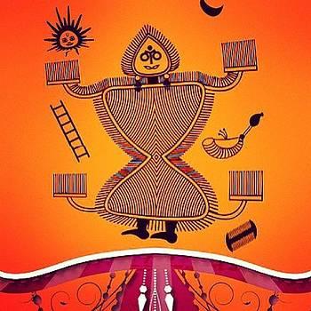 Warli Deity by Subhash Limaye