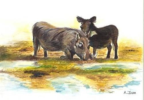 Warthogs by Andrick Jean