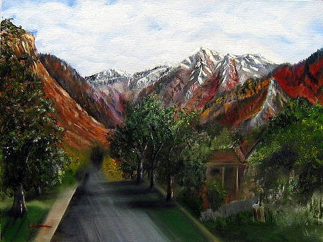 Wasatch Range looking up Binford St. by LaVonne Hand