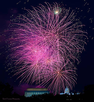 Washington DC Fireworks by Scott Fracasso