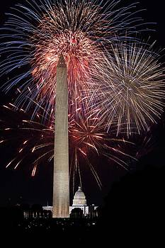 Regina  Williams  - Washington Monument and U.S.Capitol Under Fireworks