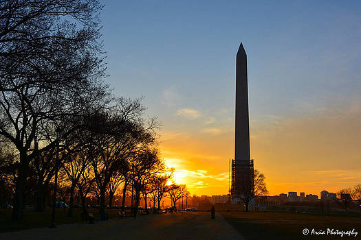 Washington Monument under Repair by Ken Arcia
