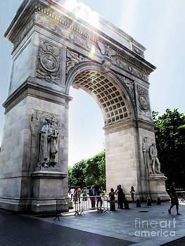 Washington Square Park Monument in the Sunlight by Anne Ferguson