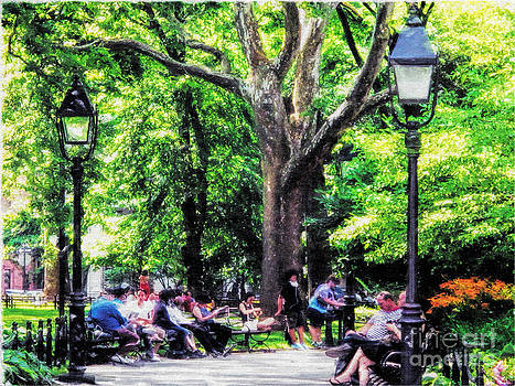 Washington Square Park NYC in the Shade by Anne Ferguson