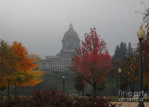 Ellen Miffitt - Washington State Capitol Building in Fog