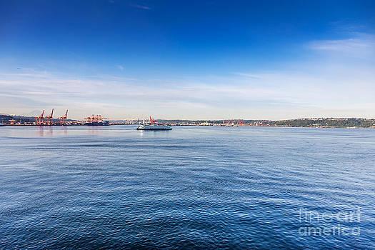 Jo Ann Snover - Washington State Ferry in Elliot Bay