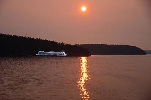 Washington State Ferry Sunset by Thomas Taylor