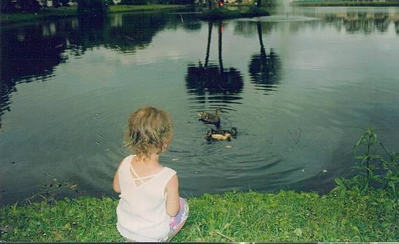 Watching Baby Ducks by Debbie Wassmann