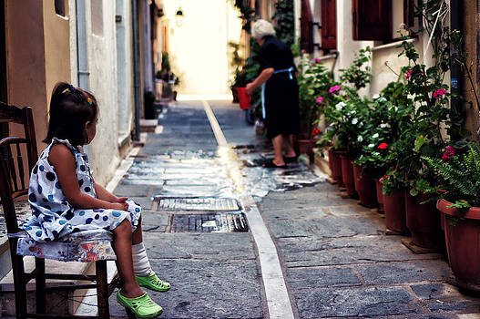 Watching her granny by Spyros Papaspyropoulos