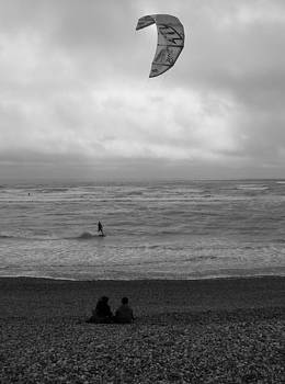 Kite surfing by Adrian Hillyard