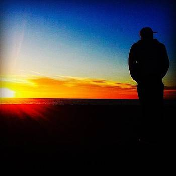 Watching The Setting Sun. #sunset by Tristan Thames