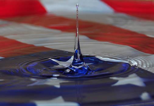 Water Art American Flag by Mischelle Lorenzen