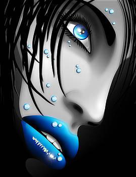 Water Blue Eyes Beauty by BluedarkArt Lem