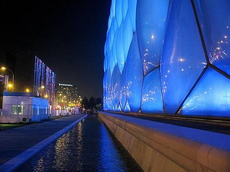 Alfred Ng - water cube at night