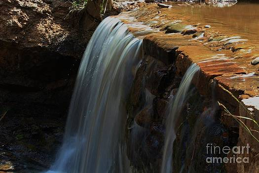 Water Fall at Seven Falls by Robert D  Brozek