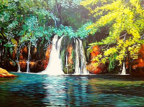 Water Fall by Evans Yegon