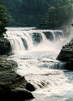 Linda Rae Cuthbertson - Letchworth State Park Waterfall