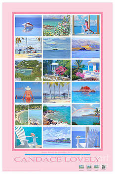 Candace Lovely - Water Island Poster