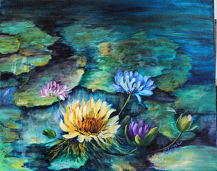 Water Lilies by Elaine Bailey