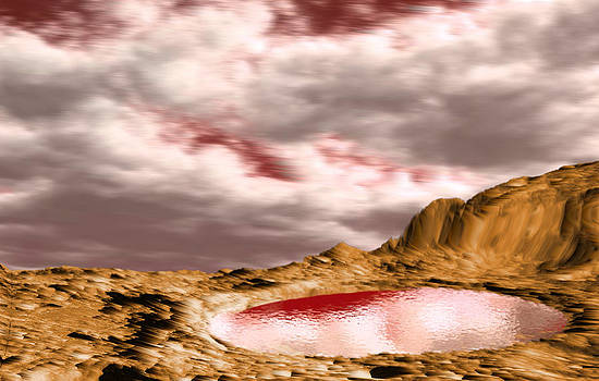 Water on Mars by Piero Lucia