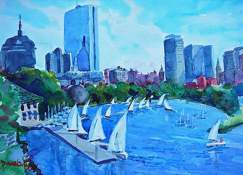 Water View of Boston by Diane Bell