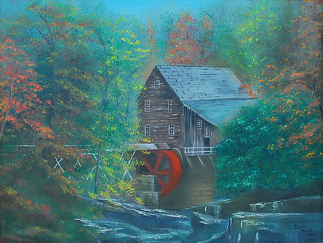 Water wheel house  by Dawn Nickel