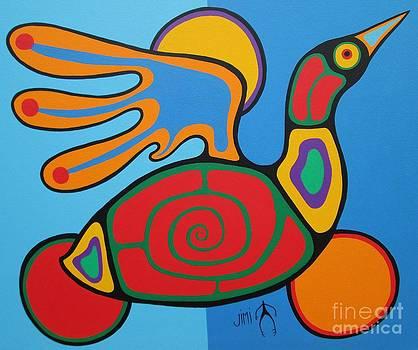 Waterbird by Jim Oskineegish