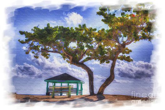 Dan Friend - watercolor beach scene